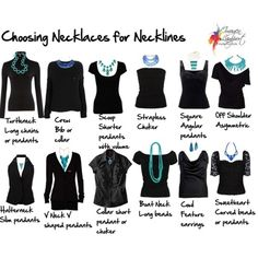 Choosing Necklaces for Necklines - Click image to find more DIY & Crafts Pinterest pins