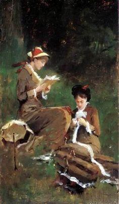 Serafín Avendaño ~ Reading ~ (Spanish: 1838-1912)