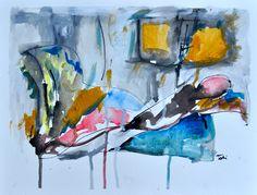 """Period"" Tati Araujo watecolors on paper 2013"