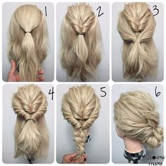 hairstyle/ braid/ fishtail/ updo