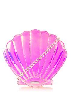 Pink Holo Shell Cross Body Bag