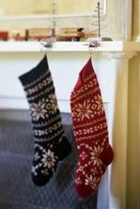 I have a red sweater (somewhere??) similar to this that would look GREAT repurposed as a stocking!