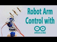 Arduino ile Potansiyometre Kullanarak Robot Kol Kontrolü - YouTube