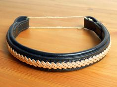 Laced Browband Black Leather Browband for by FarBeyondLeather Horse Bridle, Dark Brown Color, Vegetable Tanned Leather, My Works, Black Leather, Buy And Sell, Lace, Handmade, Stuff To Buy