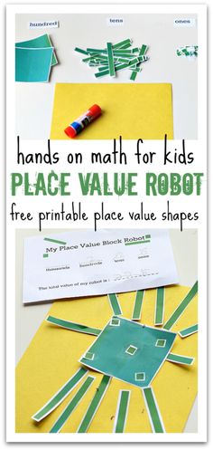 Place Value Robot - Math Activity - No Time For Flash Cards - Mathe Ideen 2020 Math Strategies, Math Resources, Math Activities, Math Games, Place Value Activities, Place Value Projects, Base Ten Activities, Educational Activities, Math Place Value