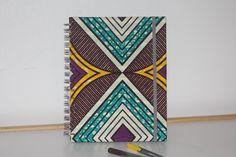 African fabric diary, 2018 planner, ankara agenda, journal, organiser by MissSemedoCreations on Etsy