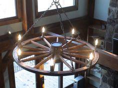 Картинки по запросу wagon wheel chandelier