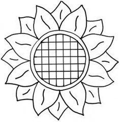 Sunflower template 1 | Templates | Pinterest | Sunflowers, Flower