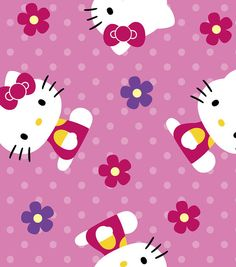 Licensed Ultra Cuddle Fabric-Hello Kitty Flowers Item # 11611415