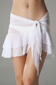Mesh Ruffle Sarong in White - Bademode Swimwear Cover Ups, Swimsuit Cover Ups, Trendy Outfits, Summer Outfits, Trendy Swimwear, High Cut Bikini, Beachwear For Women, Beach Dresses, Resort Wear