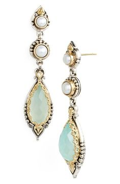 Konstantino 'Amphitrite' Pearl & Semiprecious Stone Drop Earrings available at #Nordstrom