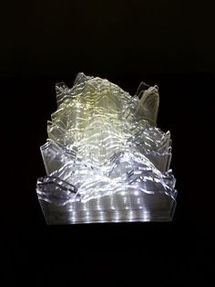 """Resurgence"" by Angela Xu. A wonderful light sculpture with cast acrylic, LEDs, plywood."