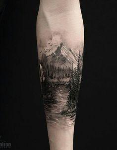 40 Landschafts Tattoo Ideen ~ Tattoo Motive - 40 Landschafts Tattoo Ideen La mejor imagen sobre diy crafts para tu g - Body Art Tattoos, New Tattoos, Tattoos For Guys, Cool Tattoos, Tattoos Pics, Tatoos, Henna Tattoos, Tattoos Gallery, Tattoo Art