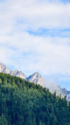 Nature Mountain Sky Blue Green Sunny Summer #iPhone #5s #wallpaper