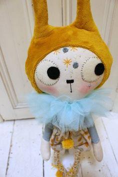 PinkyMinky's Handmade and Original Shop — Lutea - Cotton cat doll Dolly Mixture, Cat Doll, Sewing Dolls, Cute Cats And Kittens, Handmade Dolls, Fabric Dolls, Little People, Softies, Stuffed Animals