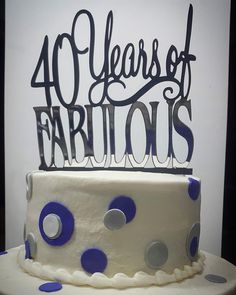 40 and fabulous!  #caketoppersbyalloyds.  For orders and information contact us at orders@alloyds.com.  #eventdecor #decor #lasercut #laserengraving #partyfavors #event #party #wedding #weddingdesign #escortcards #caketopper #tablecards #tablenumbers #happylife #birthday #love #design #anguilla #anguillawedding #anguillabride #darylcthompson #trendy #inthedetails #partybags #weheartparties #madeinanguilla #alloyds by alloydent