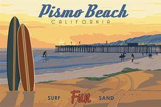 David ZagRodny: Photographs, San Luis Obispo: Steve Thomas' Vintage 1930's style Travel Posters
