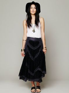 Free People FP X Annie Oakley Lace Skirt, 148.00 Omg. I want to eat it.