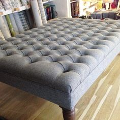chesterfield style oxford deep buttoned large footstool / coffee