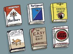 On the endless literature to help you quit smoking.