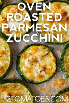Oven Roasted Zucchini, Roast Zucchini, Grilled Zucchini Recipes Parmesan, Zucchini With Parmesan, Breaded Zucchini, Zucchini Rounds, Zucchini Chips, Zuchinni Recipes, Vegetable Recipes