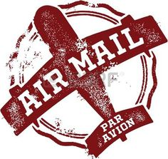 Illustration of Vintage Air Mail Postmark vector art, clipart and stock vectors. Image Avion, Rubber Stamp Company, Airmail Envelopes, Photo Avion, First Class Stamp, Travel Stamp, Passport Stamps, Vintage Airplanes, Embroidery Fashion