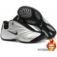 new concept 4e606 1eca5 Nike Air Flightposite 1 Silver Grey Black