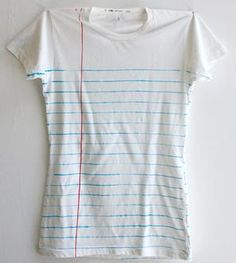 Women's Loose Leaf Notebook Paper Print T-Shirt