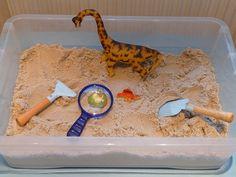 Montessori-Inspired Dinosaur Unit at Living Montessori Now (Photo from Elaine Ng Friis) Dinosaur Theme Preschool, Dinosaur Dig, Dinosaur Activities, The Good Dinosaur, Preschool Themes, Montessori Activities, Preschool Activities, Montessori Materials, Dinosaur Projects