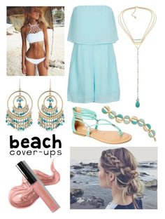 """""""Beach Break"""" by amelia-36 ❤ liked on Polyvore featuring Carolee, TIARA, Bobbi Brown Cosmetics and coverups"""