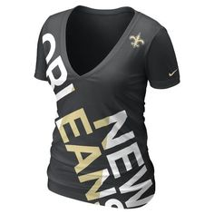 Nike Women's New Orleans Saints Tri NFL Off-Kilter T-Shirt.