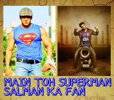 The two awesome actors Arjun Kapoor, Salman Khan, Agra, Superman, Two By Two, Bollywood, Actors, Awesome