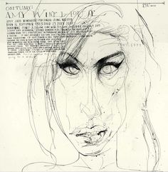 Amy Winehouse by David Hughes http://www.rappart.com/portfolio/0/152/0/david_hughes/0/0