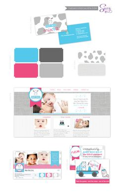 Brand board for Baby Moo, created by The Savvy Socialista.