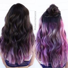 Loving the purple, and how it peeks out at the bottom. My hair is layered so that this would probably happen to me.
