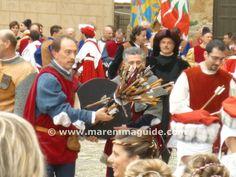 Massa Marittima San Cerbone medieval archery trophy, October.