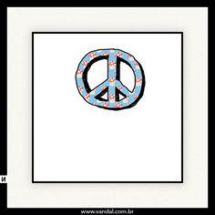Paz, cogumelos, fofo, símbolo, natureza, cute