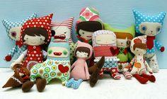 bonecas de pano tecido - Pesquisa Google