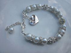 Pearl bracelet bridesmaid gift bridesmaid bracelet by LondonGem