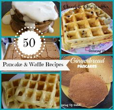 50 Pancake and Waffle Recipes - Growing Up Gabel A great place for waffle recipes. Good luck deciding which one!