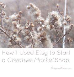 How I Used Etsy to Start a Creative MarketShop