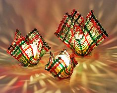 Christmas Confetti Glass Candleholder by Ed Edwards (Art Glass Candleholder