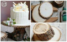 Natural cake stand
