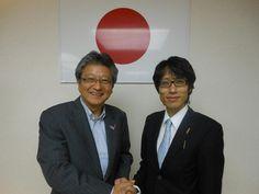 竹田研究会に参加し、「日本人の心」というものを学んでいます。 明治天皇の玄孫、竹田恒泰先生と。