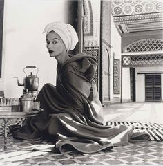 Woman in Moroccan Palace - photo by Irving Penn, 1951