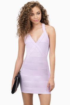 Lavender Fabian Bodycon Dress at $25 (was $64)