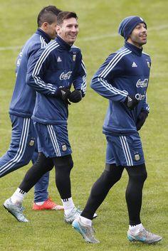 Lionel Messi, Javier Mascherano & Sergio Kun Aguero