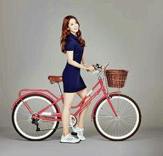 Park Shin Hye Park Shin Hye, Jung Suk, Lee Jong Suk, Gwangju, Fashion 2017, Girl Fashion, Fashion Dresses, Heirs Korean Drama, Bicycle Girl
