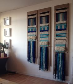 Weaving Textiles, Tapestry Weaving, Weaving Loom Diy, Hand Weaving, Yarn Wall Art, Weaving Wall Hanging, Creative Textiles, Macrame Design, Weaving Projects