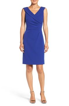 Tahari Stretch Crepe Sheath Dress available at #Nordstrom